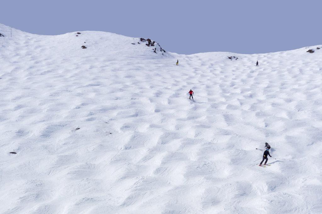 mogul ski slope in canada